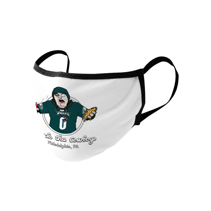 F the Cowboys Accessories Face Mask by Christopher Walter's Artist Shop