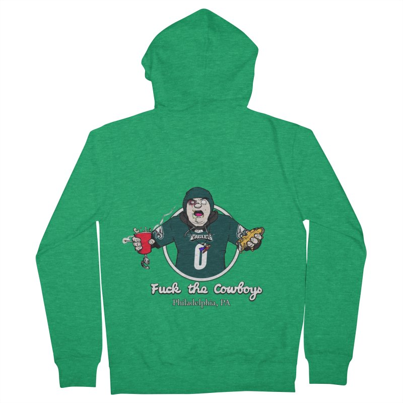 F the Cowboys Men's Zip-Up Hoody by Christopher Walter's Artist Shop