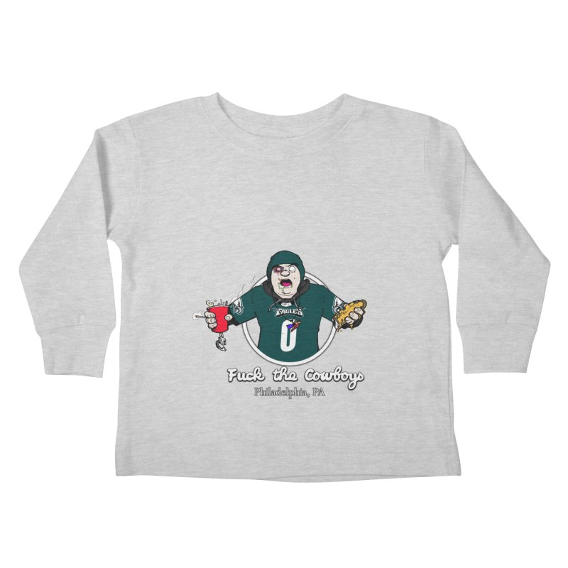 F the Cowboys Kids Toddler Longsleeve T-Shirt by Christopher Walter's Artist Shop