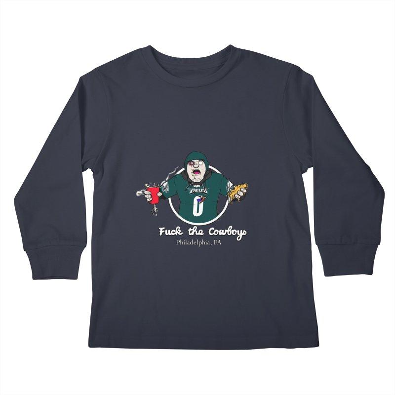 F the Cowboys Kids Longsleeve T-Shirt by Christopher Walter's Artist Shop