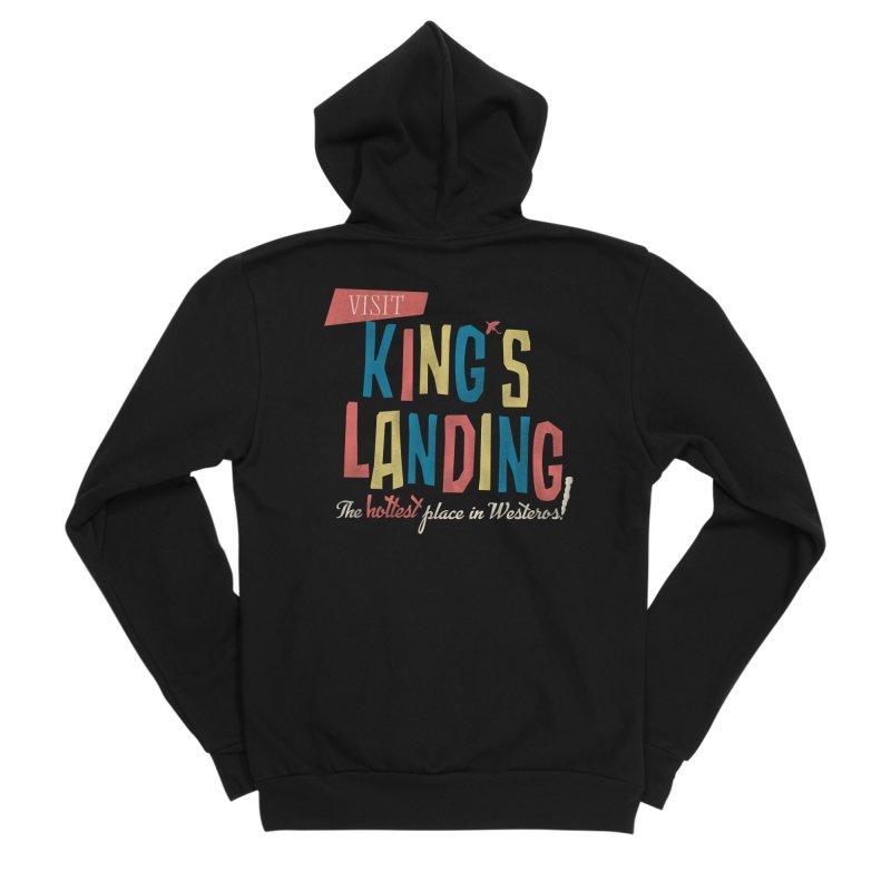 Visit King's Landing Women's Sponge Fleece Zip-Up Hoody by coyotealert