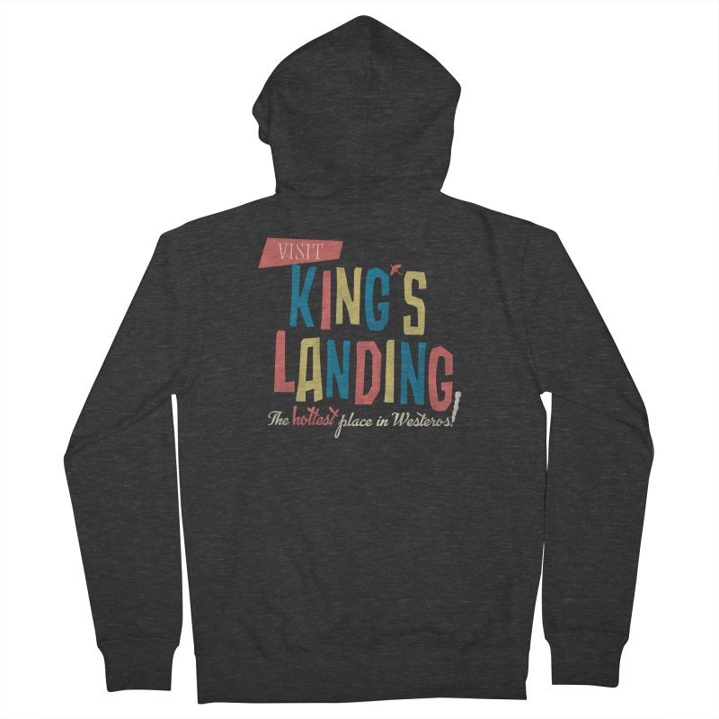 Visit King's Landing Women's French Terry Zip-Up Hoody by coyotealert