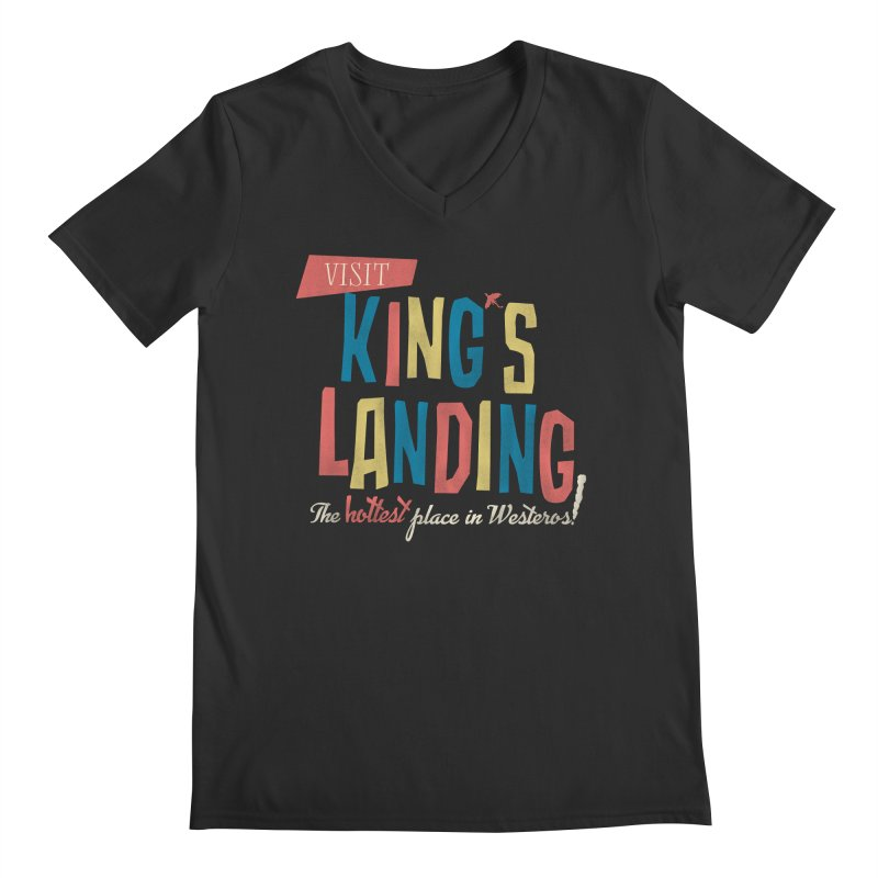 Visit King's Landing Men's Regular V-Neck by coyotealert