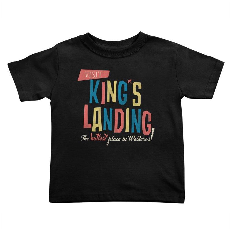 Visit King's Landing Kids Toddler T-Shirt by coyotealert