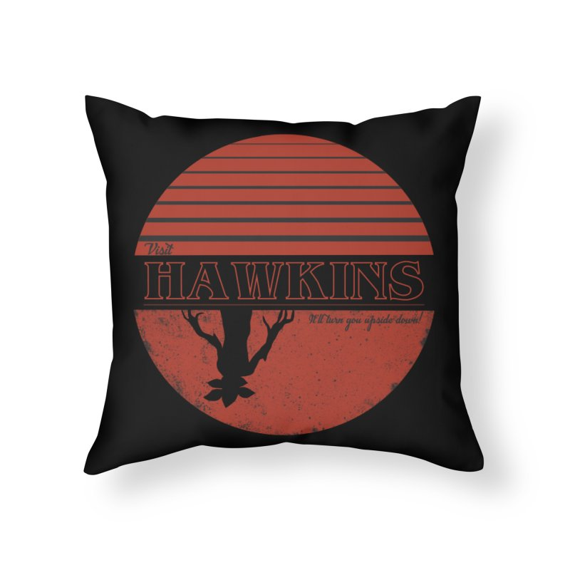 Visit Hawkins Home Throw Pillow by coyotealert