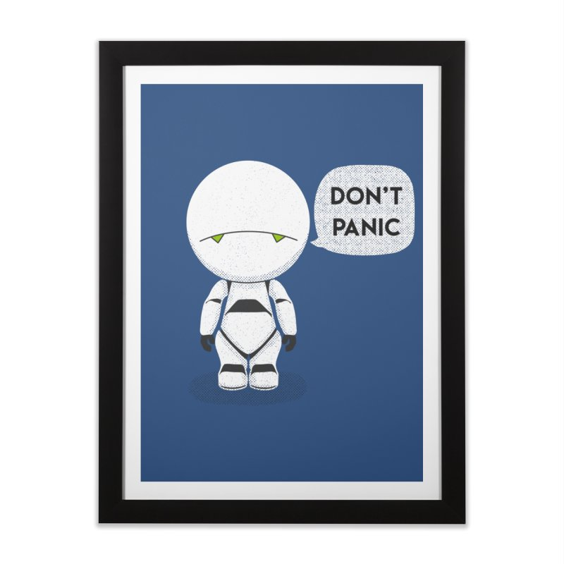 Don't Panic Home Framed Fine Art Print by Coyote Alert