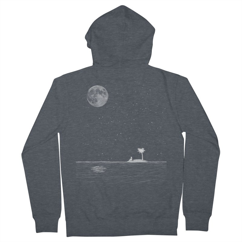 I Think Better When I'm Alone Men's French Terry Zip-Up Hoody by coyotealert