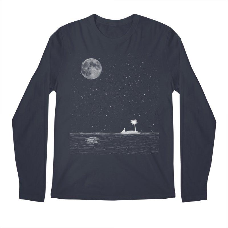 I Think Better When I'm Alone Men's Regular Longsleeve T-Shirt by coyotealert