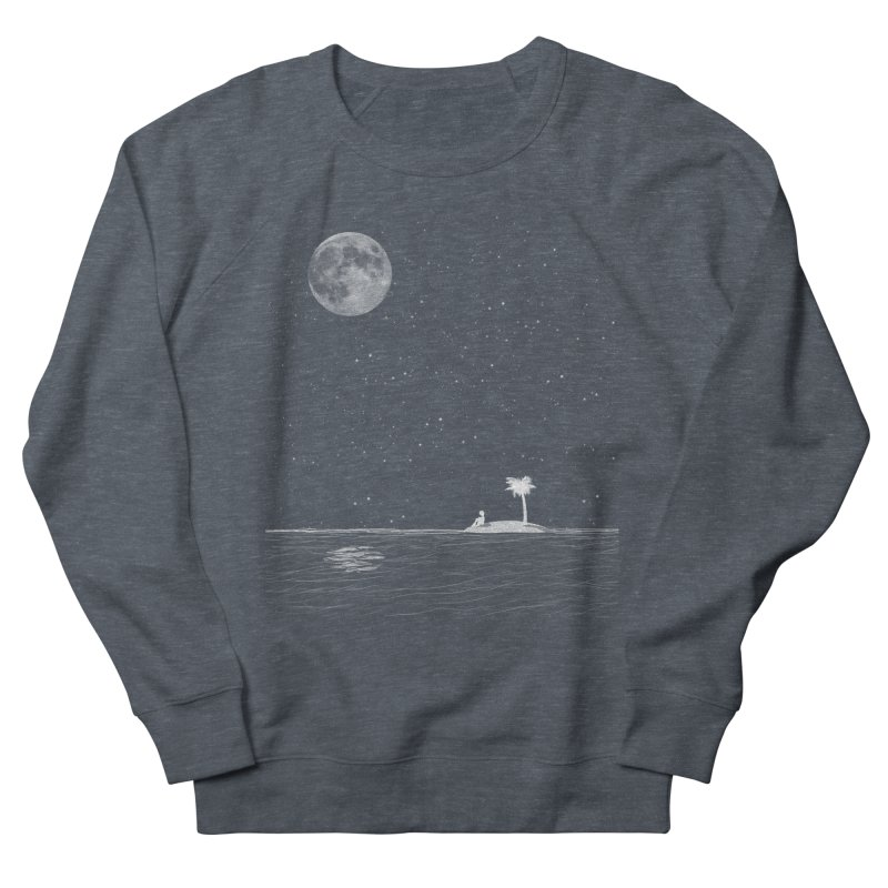 I Think Better When I'm Alone Men's French Terry Sweatshirt by coyotealert