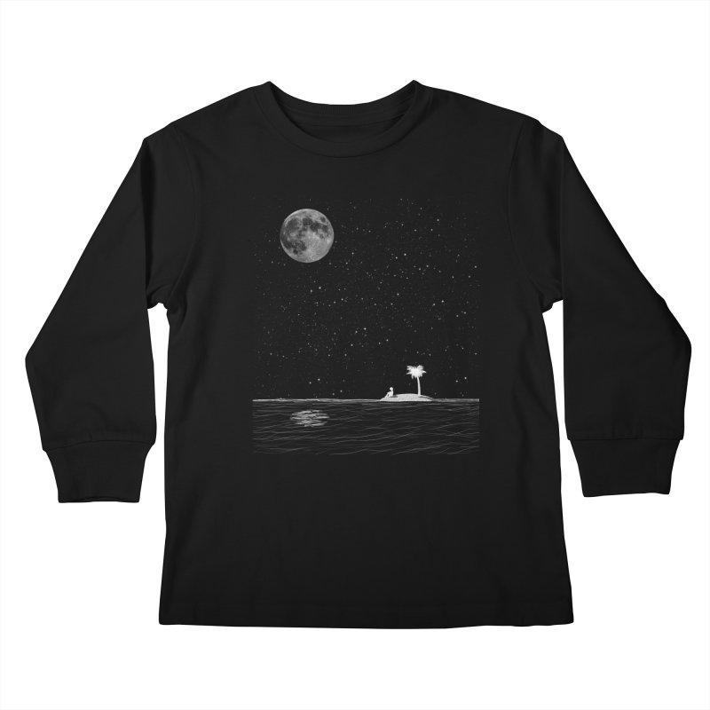 I Think Better When I'm Alone Kids Longsleeve T-Shirt by coyotealert