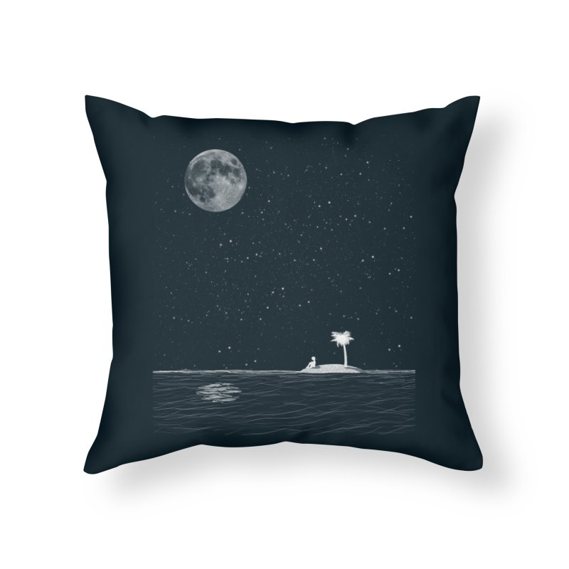 I Think Better When I'm Alone Home Throw Pillow by coyotealert