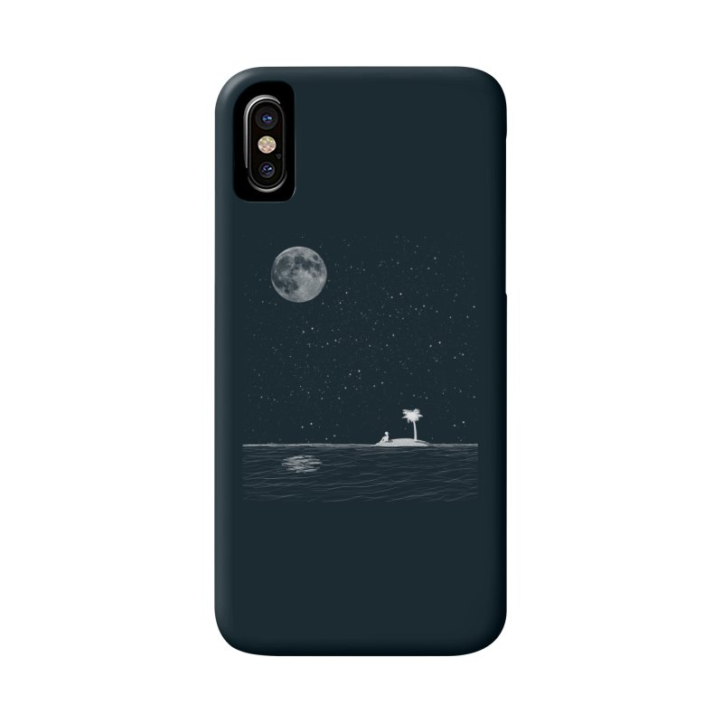 I Think Better When I'm Alone Accessories Phone Case by coyotealert