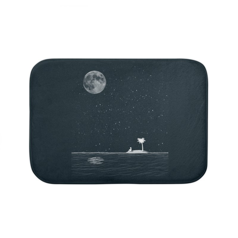 I Think Better When I'm Alone Home Bath Mat by coyotealert