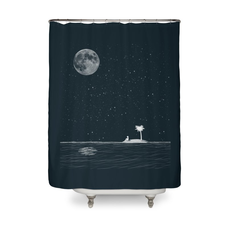 I Think Better When I'm Alone Home Shower Curtain by coyotealert