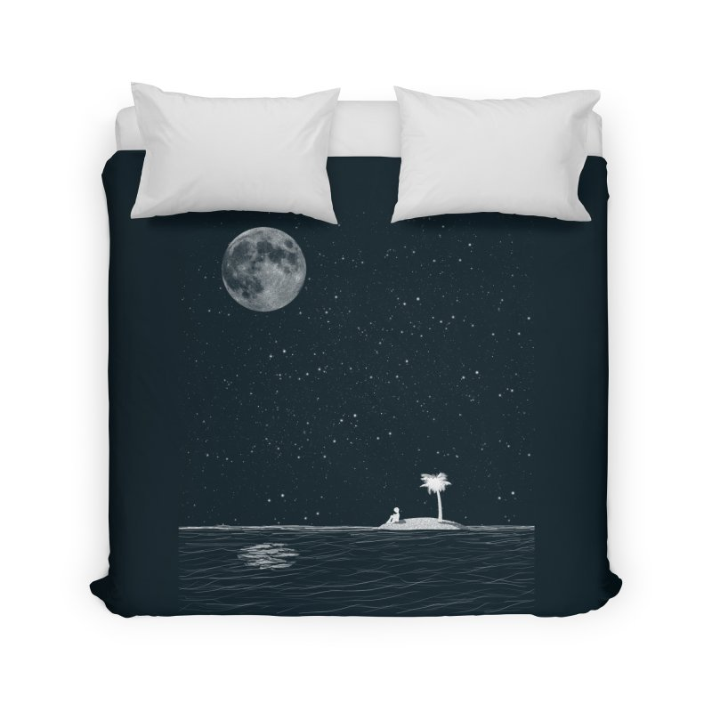 I Think Better When I'm Alone Home Duvet by coyotealert