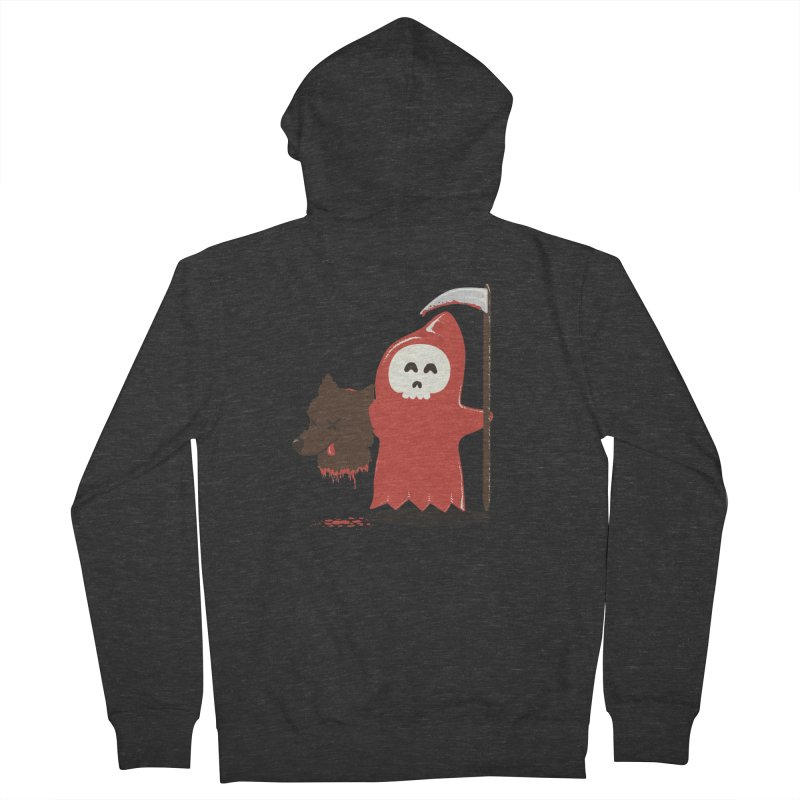 Little Death Riding Hood Men's Zip-Up Hoody by coyotealert