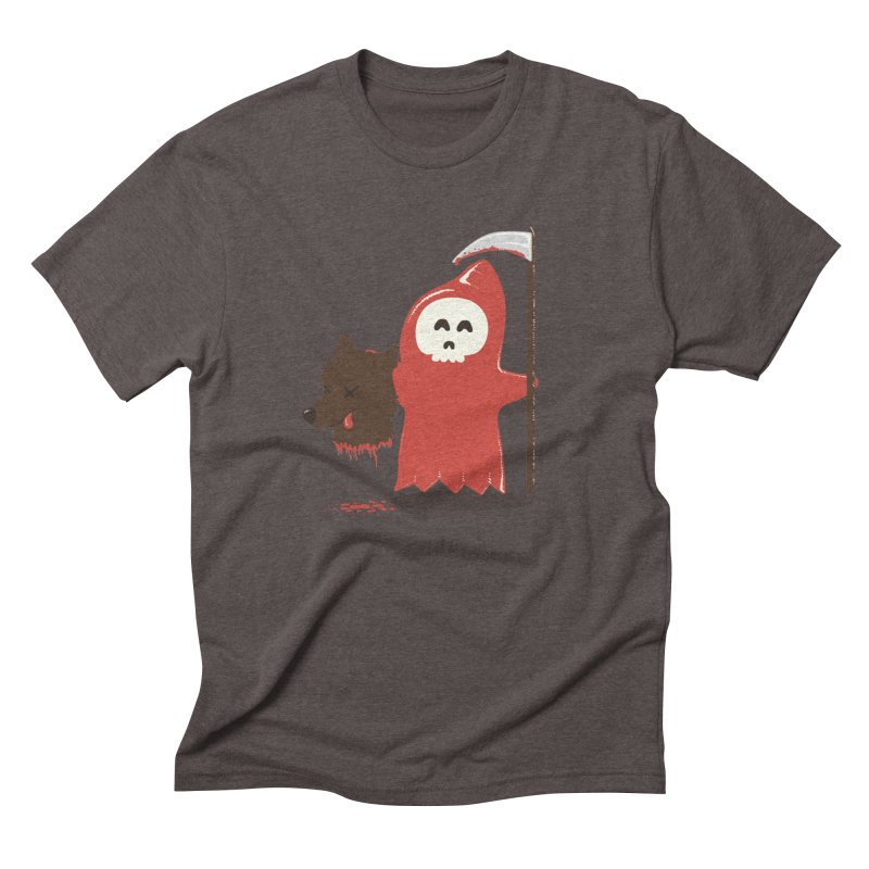 Little Death Riding Hood Men's Triblend T-Shirt by coyotealert