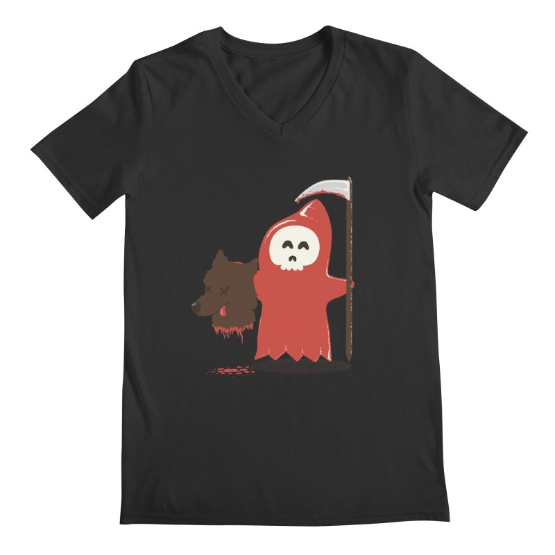 Little Death Riding Hood Men's Regular V-Neck by coyotealert