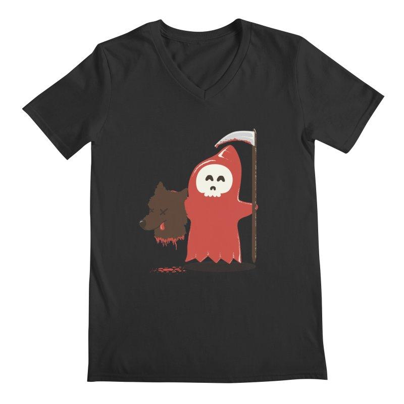 Little Death Riding Hood Men's V-Neck by coyotealert
