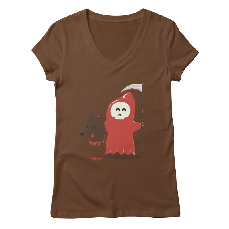 Little Death Riding Hood Women's Regular V-Neck by coyotealert