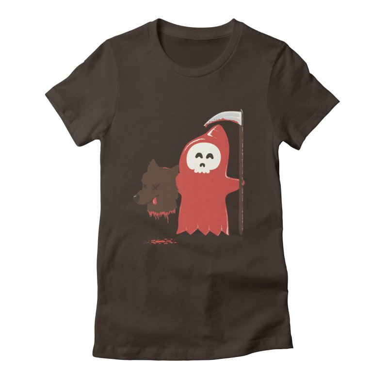 Little Death Riding Hood Women's Fitted T-Shirt by coyotealert