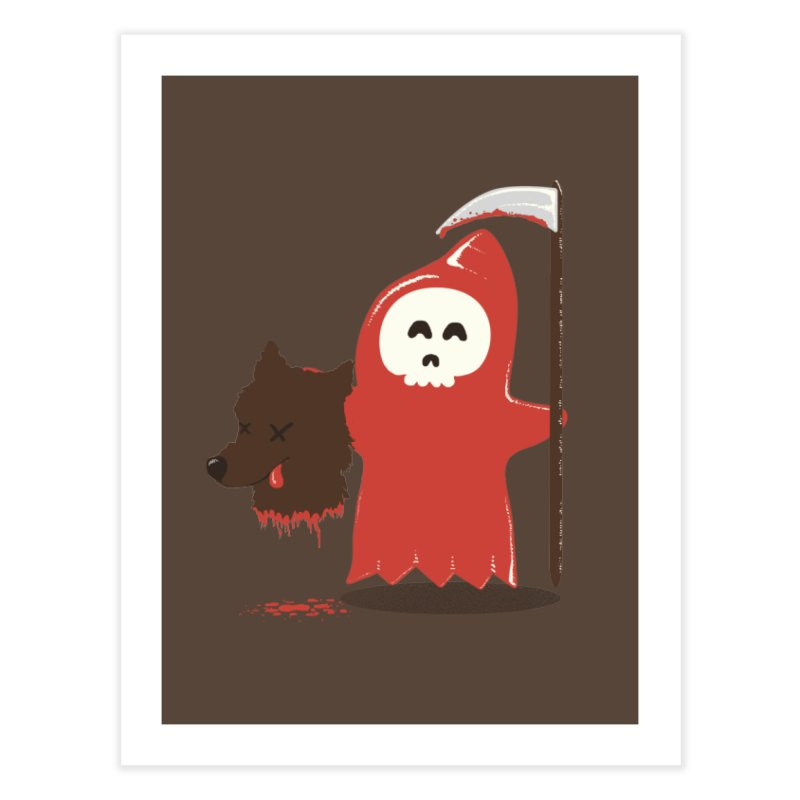 Little Death Riding Hood Home Fine Art Print by coyotealert