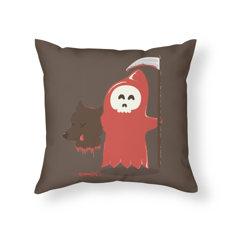 Little Death Riding Hood Home Throw Pillow by coyotealert