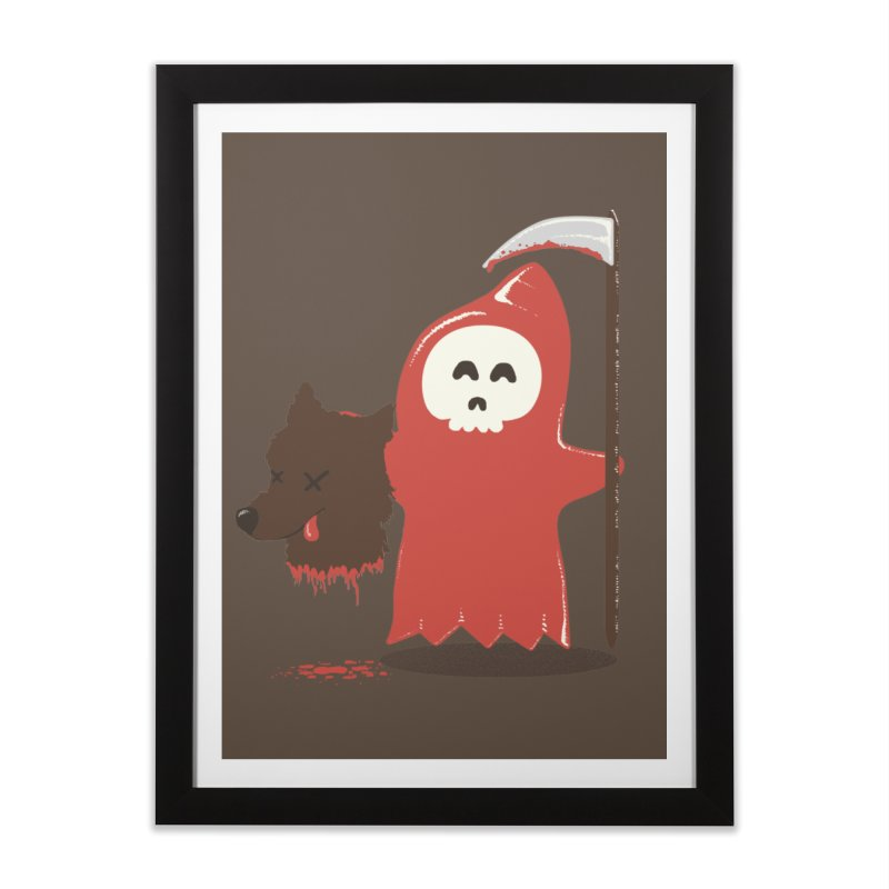 Little Death Riding Hood Home Framed Fine Art Print by coyotealert
