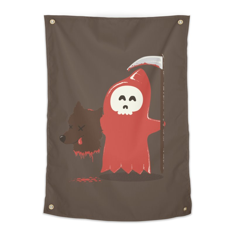 Little Death Riding Hood Home Tapestry by coyotealert
