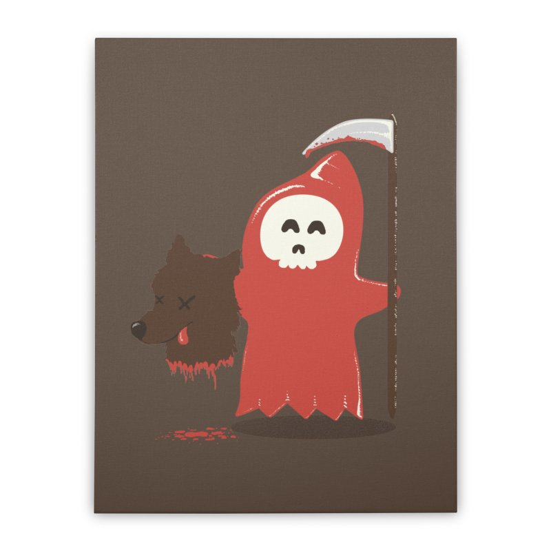 Little Death Riding Hood Home Stretched Canvas by coyotealert
