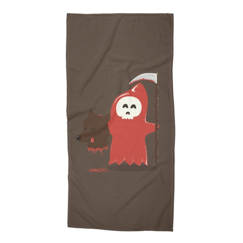 Little Death Riding Hood Accessories Beach Towel by coyotealert