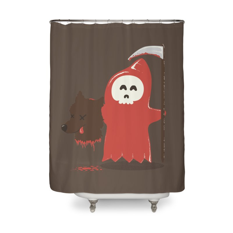 Little Death Riding Hood Home Shower Curtain by coyotealert