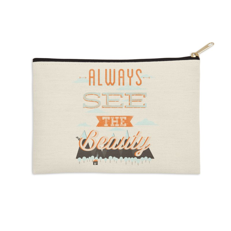 Always See The Beauty Accessories Zip Pouch by coyotealert
