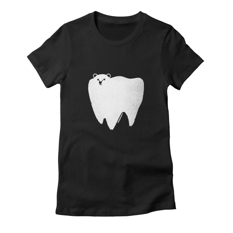 Molar Bear Women's Fitted T-Shirt by coyotealert