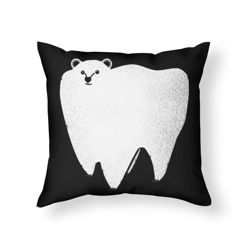 Molar Bear Home Throw Pillow by coyotealert
