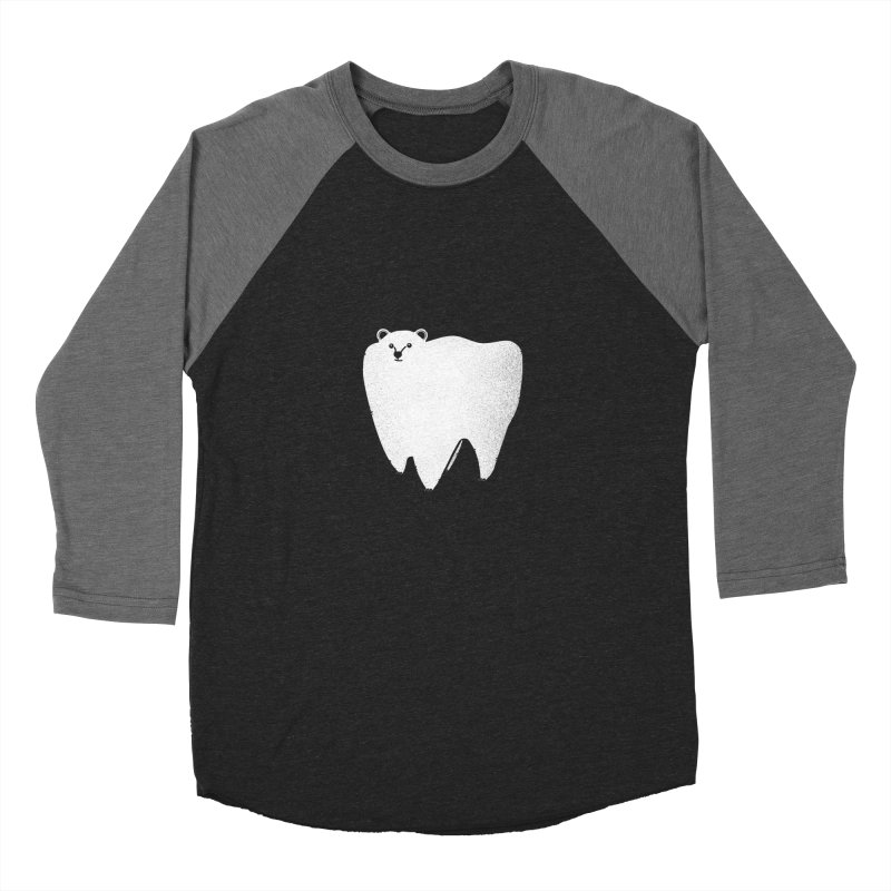 Molar Bear Men's Baseball Triblend T-Shirt by coyotealert
