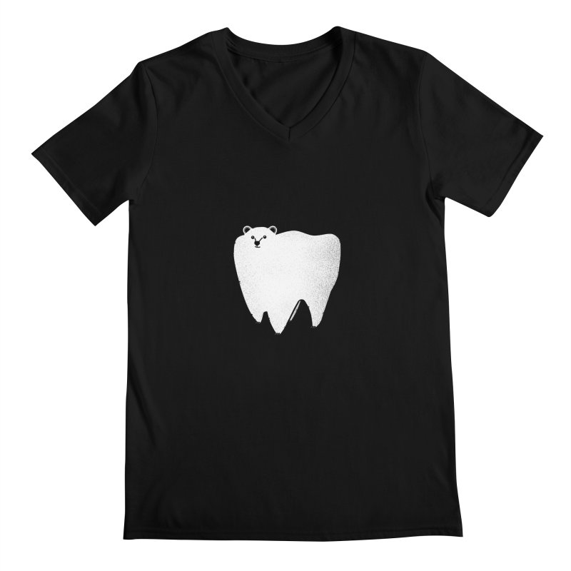Molar Bear Men's Regular V-Neck by coyotealert