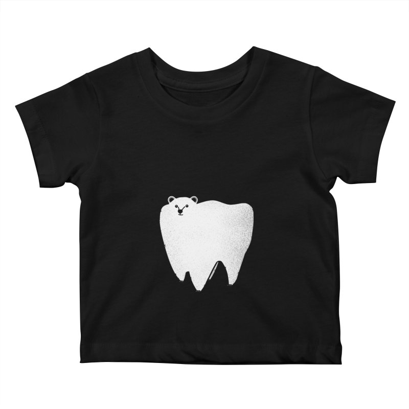 Molar Bear Kids Baby T-Shirt by coyotealert