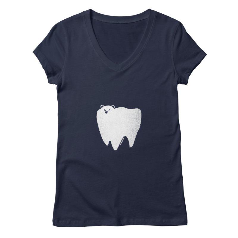 Molar Bear Women's Regular V-Neck by coyotealert