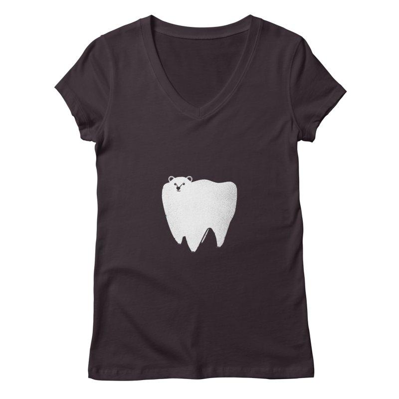 Molar Bear Women's V-Neck by coyotealert
