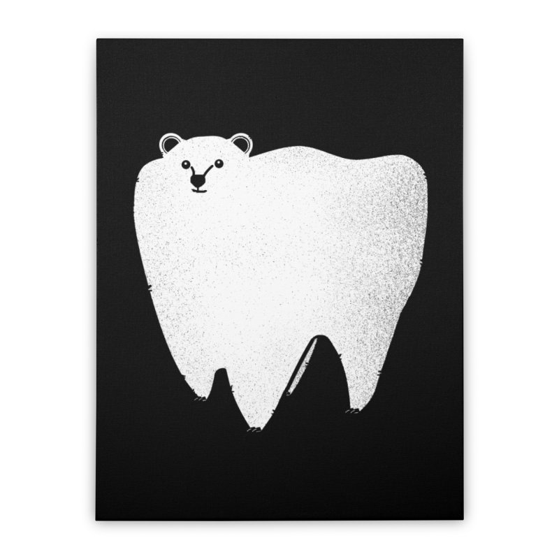 Molar Bear Home Stretched Canvas by coyotealert