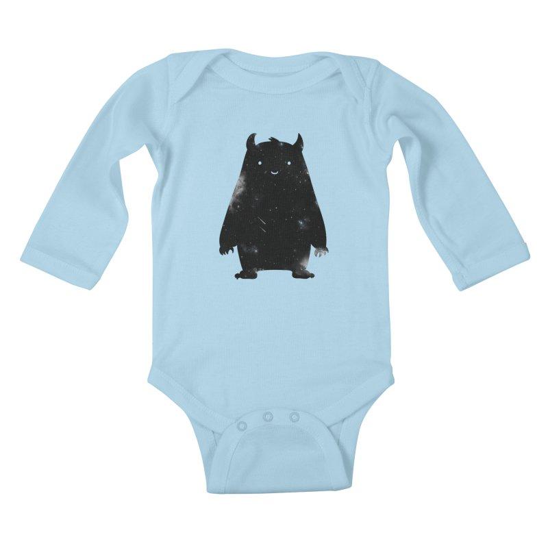 Mr. Cosmos Kids Baby Longsleeve Bodysuit by coyotealert