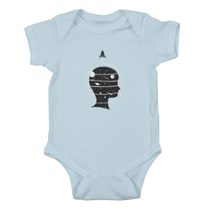 Spaced Out Kids Baby Bodysuit by coyotealert