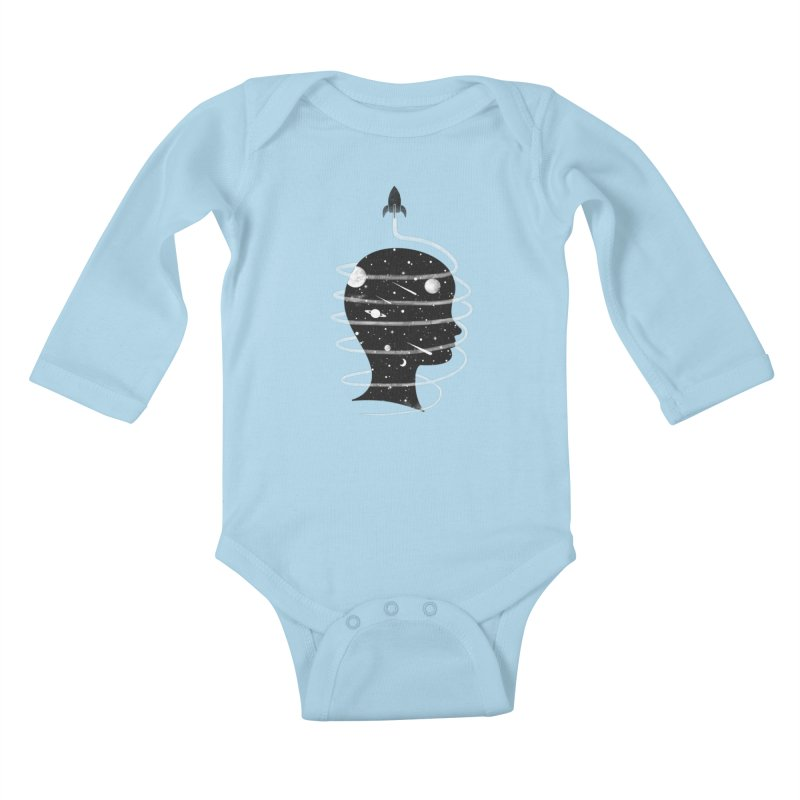 Spaced Out Kids Baby Longsleeve Bodysuit by coyotealert
