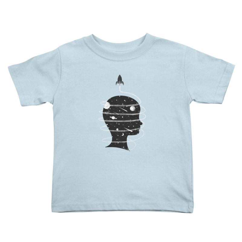Spaced Out Kids Toddler T-Shirt by coyotealert