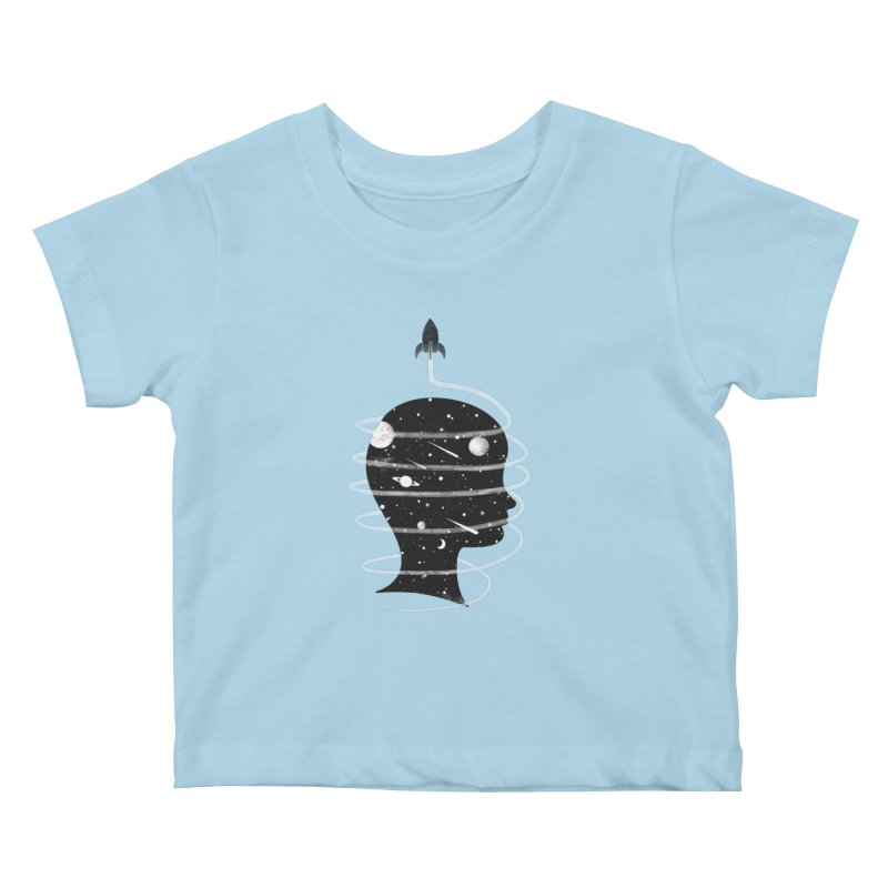 Spaced Out Kids Baby T-Shirt by coyotealert