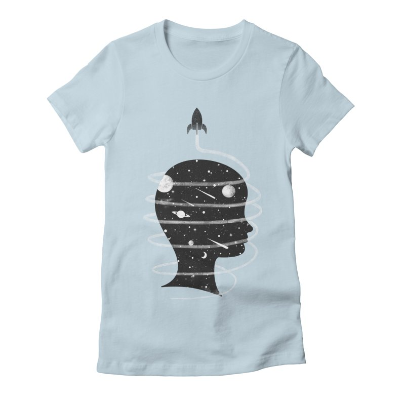 Spaced Out Women's Fitted T-Shirt by coyotealert