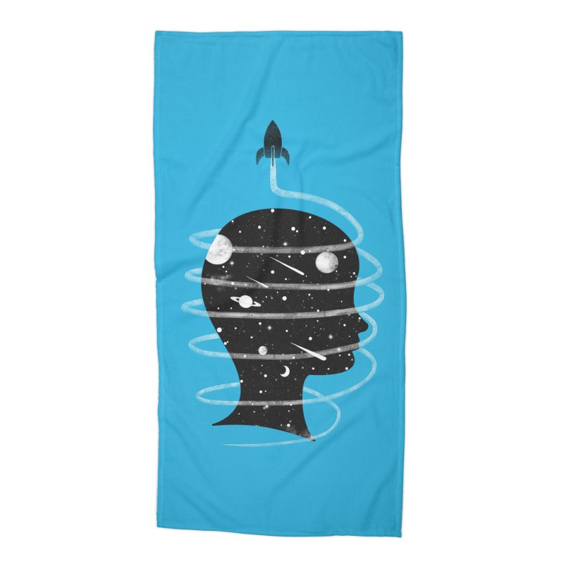Spaced Out Accessories Beach Towel by coyotealert