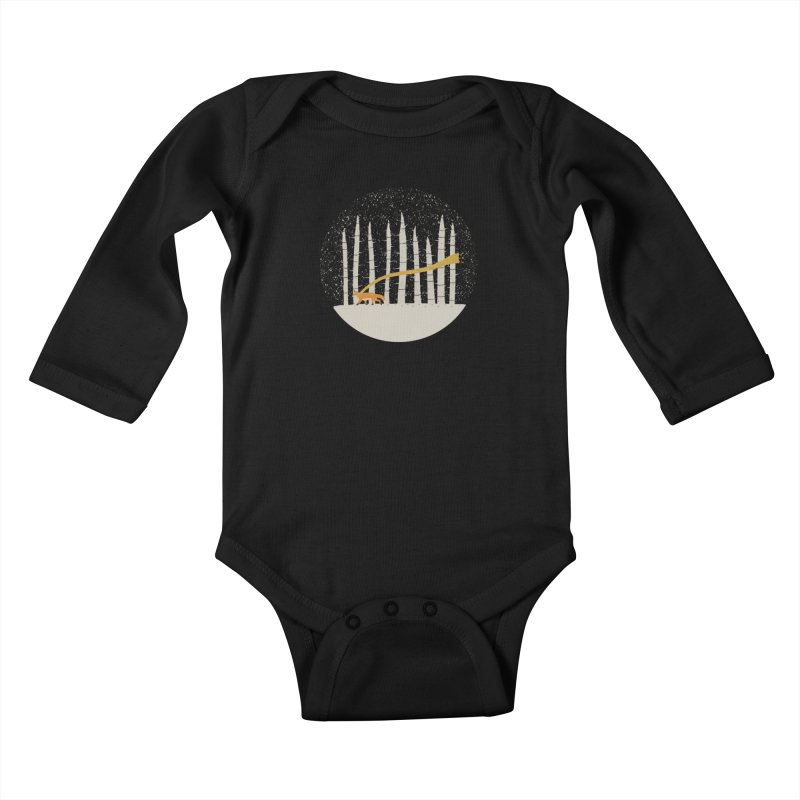 The Gold Scarf Kids Baby Longsleeve Bodysuit by coyotealert