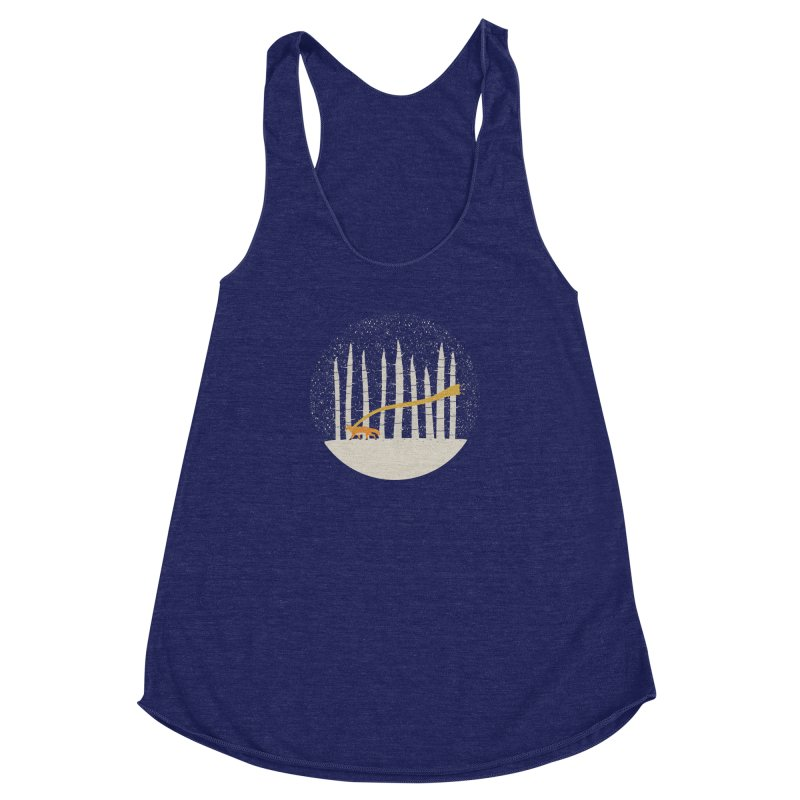 The Gold Scarf Women's Racerback Triblend Tank by coyotealert